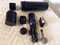 300mm, 50mm lenses and accessories.