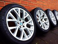 "19"" GENUINE BMW 6/7 SERIES STYLE 238 ALLOY WHEELS &. DUNLP 3D WINTER RUNFLAT TYRES"