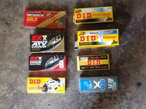 Various Motorcycle & ATV Chains, Brand New, Shipping Available