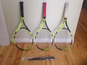 2 Raquettes de tennis Babolat (manche rouge VENDUE)