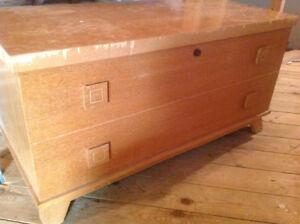 "Cedar chest , lockable 19x41x21"" high"