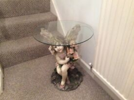 Solid fairy glass top table