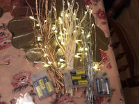 "Gold Branch Lights, LED 16""  wedding, anniversary, home decor"