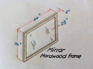 Mirror with mahagony frame