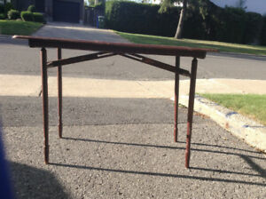Antique folding table. Very unique
