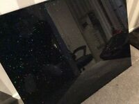 **Brand new** Sparkly coloured granite effect glass splashback