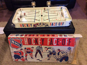 1965 Eagle Face Off Table Hockey Game with Original Box.