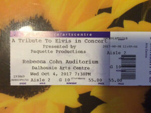 Elvis show ticket