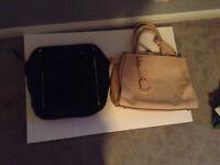 Black Zara Bag & Beige Femme La Carriere Bag ($30 each)