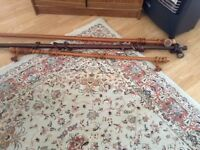 WOODEN CURTAIN POLES
