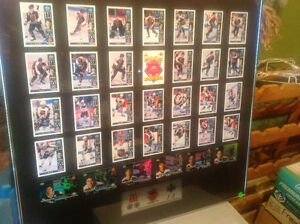 McDonald's Framed Hockey Card Set