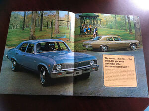 Like New 1969 Chevy Nova Dealer Brocher London Ontario image 2