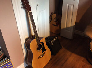 GWL Acoustic Electric Guitar with Amp