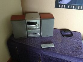 Stereo cd & mp3 & radio plater