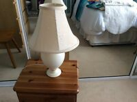 Table lamp and new rug