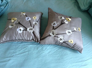 2 piece set of Asian Design Grey Throw Pillows Kingston Kingston Area image 1
