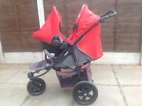 HAUK Viper 3 Wheeler Pushchair & Car Seat