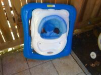 Blue baby walker