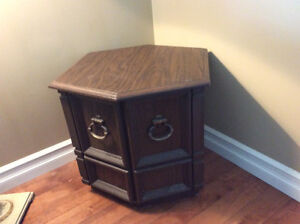 2 end tables with storage
