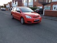 2005 Toyota Corolla 1.4 5dr hatchback petrol manual lady owner low mileage full history £1195