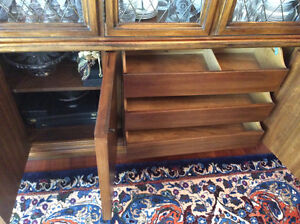 Pecan  dining room set for 12