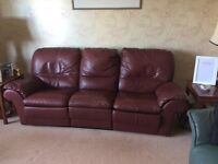Leather 3 & 2 Seater Sofas
