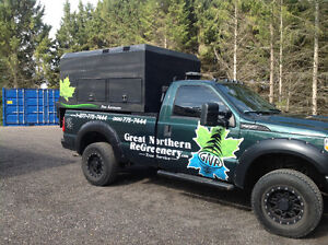 2011 Ford F-350 Pickup Truck with Wood Chip dump box