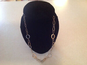 Beautiful 10K Yellow and White Gold Necklace