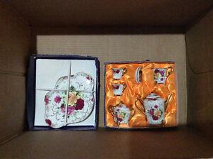 Small Glass floral tea set