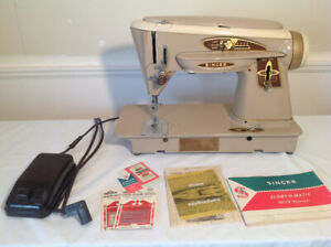 "Retro 1960's Singer ""Rocketeer"" sewing machine + accessories++"