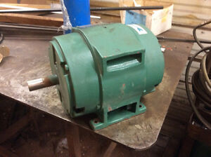 Gas water pump and 5 hp electric motor