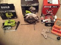 Power tools, circular saw, jig saw, router