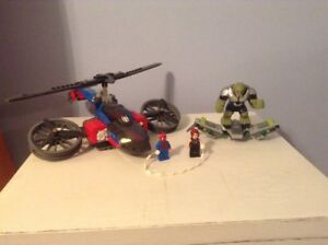 LEGO MARVEL SUPERHEROES 76016 SPIDER HELICOPTER RESCUE USED 2014