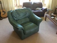 Blue/green Leather Armchair