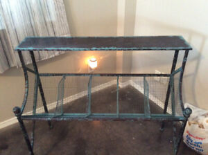 Metal distressed shelf