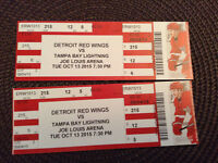 Detroit Red Wings and Tampa Bay Lightning AT FACE VALUE