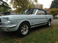 1966 Ford Mustang Convertible - Rare Front Seat No Console-Bench