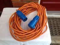 25 metre electric cable for caravan.