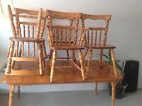 Antique table set used  Make A Offer $