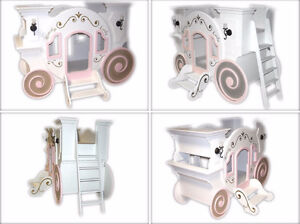 ♥‿♥ ...CINDERELLA  CARRIAGE  Twin Bunk Bed... ♥‿♥