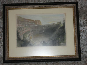 Framed original Bartlett print: The Coliseum at Rome
