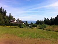 One acre lot, Ocean view,  short walk to beach, sunny