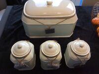 Ceramic Bread Bin Set. Brand New.