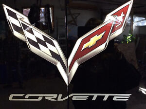 CUSTOM PAINTED NEW CORVETTE CABINET
