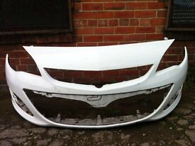 Vauxhall Astra j facelift 2012 2013 2014 2015 genuine front bumper white for sale