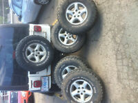 5 aluminum jeep rims and 32/11.5/15 bf Goodrich mud terrains