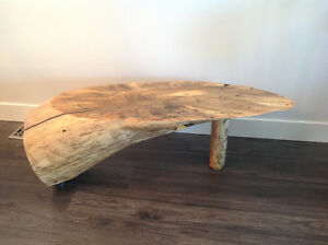 Pine log, live edge table