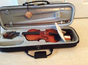 Brand new violin in case