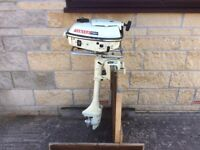 YAMAHA 5HP AIR COOLED OUTBOARD BOAT ENGINE