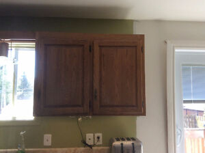 Oat Wood Cabinets for sale